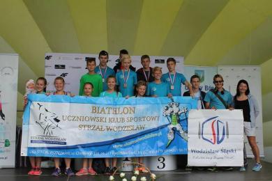 Biathloniści UKS Strzał na podium