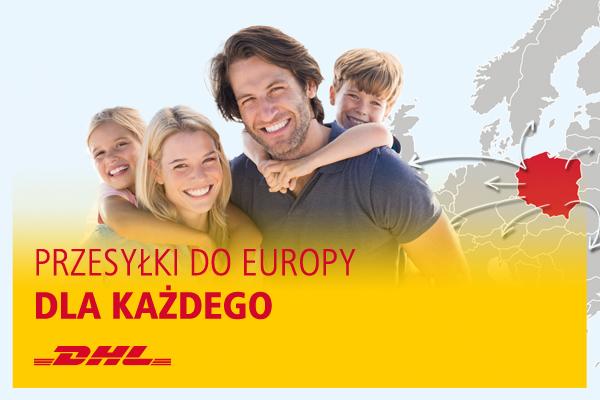 Przesyłki międzynarodowe trafiają do bliskich w 28 krajach Europy za pośrednictwem DHL Parcel