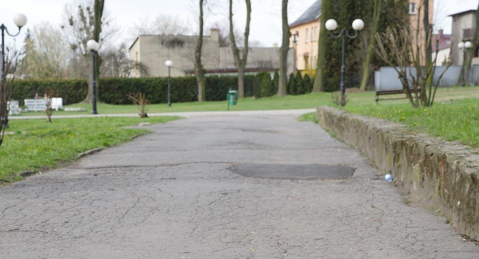 SKM rozpoczęły remont ścieżek w Parku Miejskim